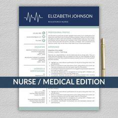 Nursing Resume Examples, Nursing Resume Template, Modern Resume Template, Cv Template, Resume Templates, Nursing Cv, Registered Nurse Resume, Professional Nurse, How To Make Resume