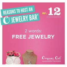There are so many reasons to host a Origami Owl jewelry bar...here's just one of them! FREE JEWELRY!! https://www.facebook.com/OrigamiOwl.heathersiler
