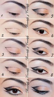 Beautify and Creatify: Neutral Thin Cut Crease Cat-Eye Makeup Look
