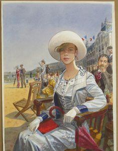 Gibrat - Affiche pour les journées Musicales Marcel Proust (Cabourg 2012) by Jean-Pierre Gibrat - Illustration