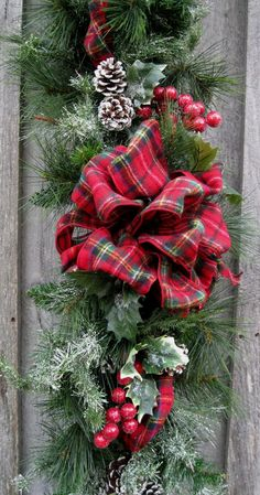 Christmas Garland Holiday Swag Woodland Décor by NewEnglandWreath