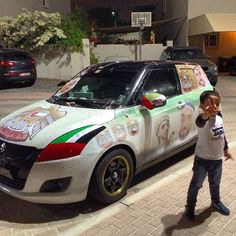 Vehicles decorated for UAE 43rd National Day PHOTO: al_rahhal