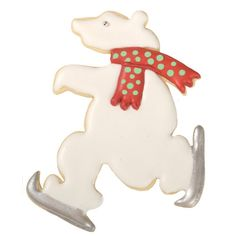 Christmas Cookie Cutters - Hammer Song Skating Polar Bear Tin Cookie Cutter