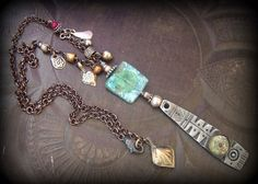 Yucca Bloom - Ancient Roman Glass, Silver Shield, Kuchi Charm, African Beads, Silver Chain Necklace