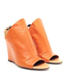 Ladies shoes BALENCIAGA Glove Leather Wedges Browns fashion designer clothes clothing 3430 |2013 Fashion High Heels|