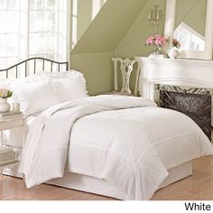 Vienna Eyelet Comforter | Overstock.com Shopping - The Best Deals on Comforter Sets