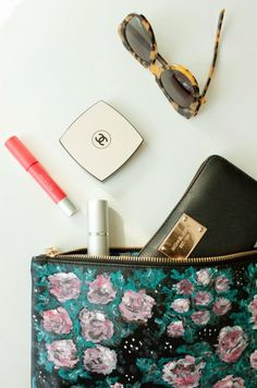 DIY Givenchy Inspired Floral Clutch   Shelterness
