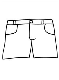 Korte broek om in te kleuren | Gratis kleurplaten