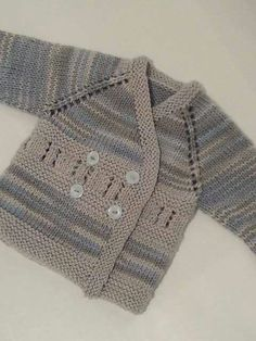 Knitted Baby Cardigan, Knit Baby Sweaters, Baby Pullover, Knitted Baby Clothes, Baby Boy Knitting, Knitting For Kids, Free Knitting, Free Crochet, Tunisian Crochet