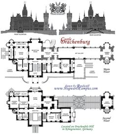 Drachenburg Castle Floor Plan