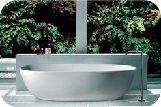 Fienza Nero freestanding stone bath at White Bathroom Co Bathroom Bath, White Bathroom, Bathrooms, Bath Tubs, Bathroom Ideas, Tropical Bathroom Decor, Freestanding Bath Taps, Bathtubs For Sale, Sydney White
