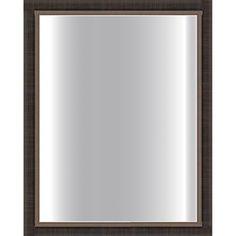 Dark Scratched Bronze Framed Glass Mirror - $90 overstock - 24x30