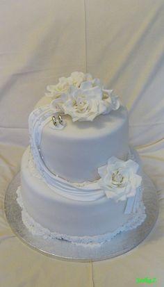 Wedding cake in white - svadobná torta v bielom