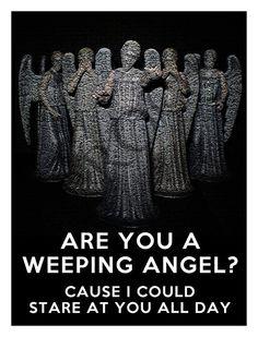 Doctor Who Weeping Angel Valentine's Day Custom by RedDoorWinery, $3.50