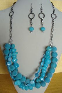 I'm in love with Turquoise and I love the Anthropologie jewelry style so this kind of mimics that.  I would love to hear your thoughts.