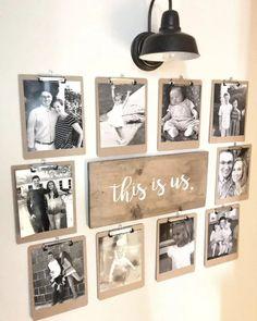 Cheap Diy Home Decor, Diy Home Decor Projects, Room Decor, Wall Decor, Family Wall, Photo Displays, Painted Furniture, Furniture Ideas, Farmhouse Decor