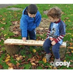Line the children up on this handy number line bench. Fantastic for all sorts of maths teaching opportunties and environmental numbers. C. H30cm x L1m number plank (1-10). Sizes may vary as it's a natural product. Natural wood, may split and bark will peel.