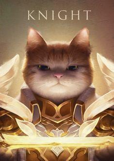 Knight cat, Weiss hunt on ArtStation at https://www.artstation.com/artwork/1m4RZ