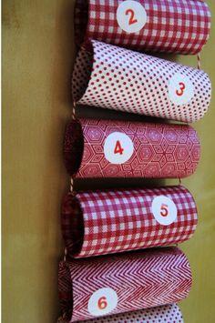 Adventskalender aus Klopapierrollen (Seidenpapier)                                                                                                                                                      Mehr