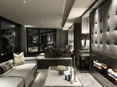 Opulent: The luxury sitting room has been created by the Candy & Candy interior design team