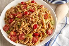 Enjoy the taste of the classic cocktail with our Bloody Mary Pasta Salad. Our Bloody Mary Pasta works perfectly into a brunch menu. (use veggie friendly Worcestershire sauce) Pizza Pasta Salads, Pasta Salad Recipes, Pasta Dishes, Taco Salads, Pasta Meals, Bloody Mary, Healthy Cooking, Cooking Recipes, Cooking Stuff