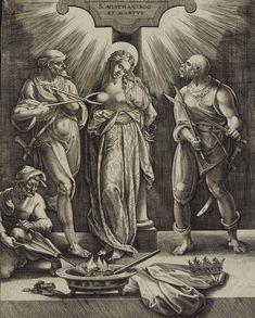 Antonius II Wierix Martyrdom of Saint Agatha  16th century