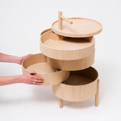 Modular Storage System Of Round Shape In The Best Traditions Of Japan - DigsDigs Modular Furniture, Home Furniture, Furniture Design, Cheap Furniture, Multifunctional Furniture Small Spaces, Moving Furniture, Modular Storage, Wood Storage, Storage Systems