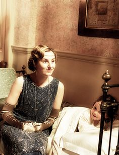 Downton Abbey Edith Crawley with Marigold, Downton Abbey behind the scenes 6x06..