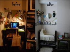 Nursing nook.  First months after baby is born. Love the idea.