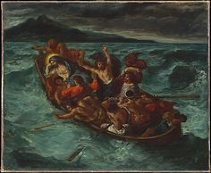Christ Asleep during the Tempest, ca. 1853, oil on canvas, French, Eugene Delacroix