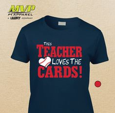 This TEACHER Loves the CARDS T-shirt  by MVPaLegacyCompany on Etsy