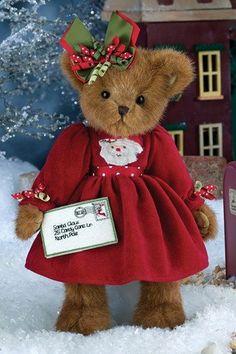 Bearington Bear IMA Believer Christmas Girl for sale online Christmas Teddy Bear, Christmas Bows, Christmas Time, Holiday, Vintage Teddy Bears, Cute Teddy Bears, Ours Boyds, Bear Pictures, Boyds Bears