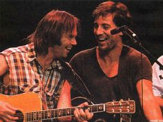 Bruce Springsteen and Neil Young concert photo