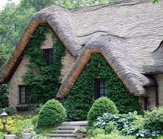 Great roof! A storybook - looking house in Crystal Lake.