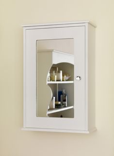 The Awesome Web Metal Pharmacy Mirror With Shelf