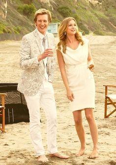 Gabriel Mann and Emily Vancamp on the set of Revenge