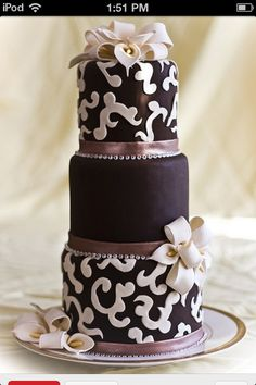 This chocolate cake would be a great asset to my future wedding it looks so good