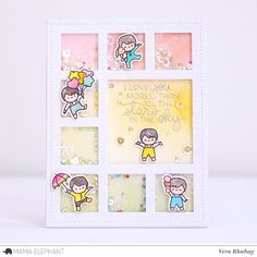 Hello there! Vera here and I have a set shaker card to share with you featuring Little Boy Agenda set and Grid Window Creative Cuts . Her...