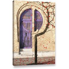 ArtWall Cynthia Decker Nouveau Gallery-Wrapped Canvas, Size: 24 x 36, Red