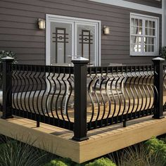 Baroque Face Mount Balusters - x x - Pack of 60 - Black Balcony Grill Design, Patio Railing, Balcony Railing Design, Patio Deck Designs, Fence Design, Staircase Design, Patio Design, Balustrade Balcon, Porch Grill