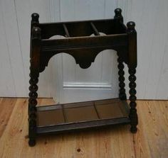 Stick Stand In Oak With Bobbin Supports