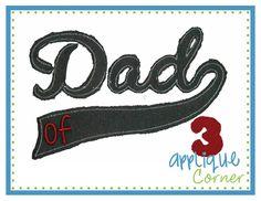Dad Swoosh Raggy Applique Design