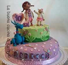 La buona cucina di Katty: Torta dottoressa Peluche - Doc McStuffins cake