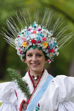 Palóc woman wearing a traditional headdress, Rimoc, Hungary