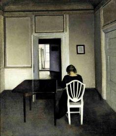 Painting by the Danish painter Vilhelm Hammershoi