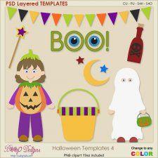 Halloween Layered Templates 4 cudigitals.com cu commercial scrap scrapbook digital graphics#digitalscrapbooking #photoshop #digiscrap