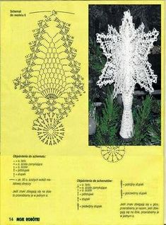 gwiazda na Stylowi.What do you expect from a crochet newsletter?Christmas on Stylowi. Lace Christmas Tree, Crochet Christmas Ornaments, Christmas Crochet Patterns, Holiday Crochet, Christmas Balls, Christmas Angels, Christmas Crafts, Christmas Decorations, Crochet Snowflake Pattern