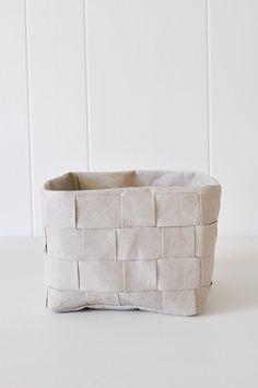 Uashmama Paper Basket - Woven Gray by KOROMIKO