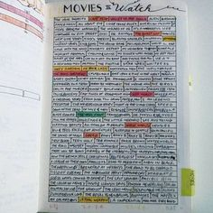 Simple way to track movies I want to watch, and what I have watched during a year in the bullet journal. I might do the same for books! #bujo