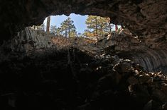 When in Drought, Ancestral Puebloans Turned to Ice Blocks in Lava Tubes - Atlas Obscura University Of South Florida, University Of Arizona, Dream Vacation Spots, Dream Vacations, Nevada Ghost Towns, Road Trip Destinations, Lava Flow, Climate Change Effects, Frozen In Time
